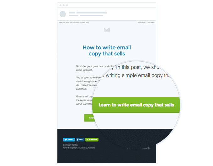 More email clicks with clear CTA
