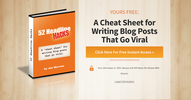 Perfect lead magnet cheat sheet
