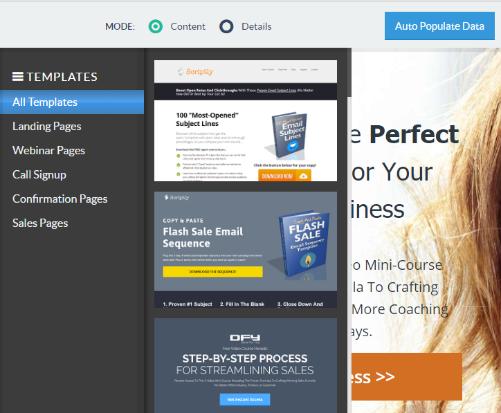 perfect lead magnet and landing page
