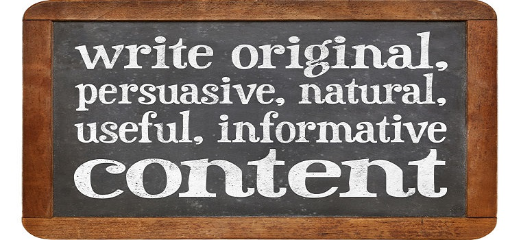 write original, persuasive, natural, useful, informative content - creating content