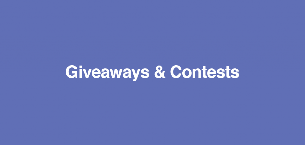 Contest & Giveaways
