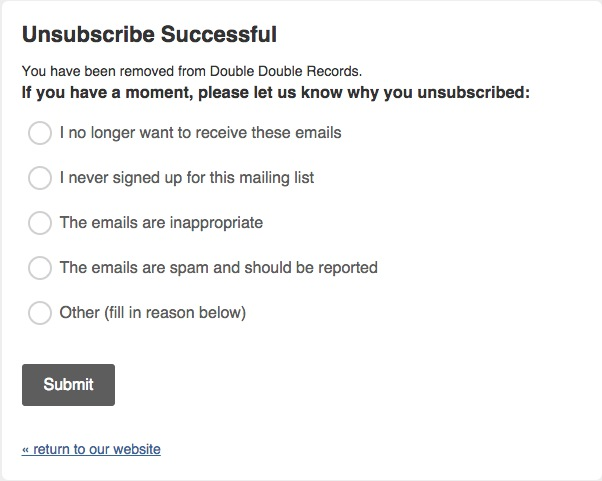 Unsubscribe - Email marketing tips for small business