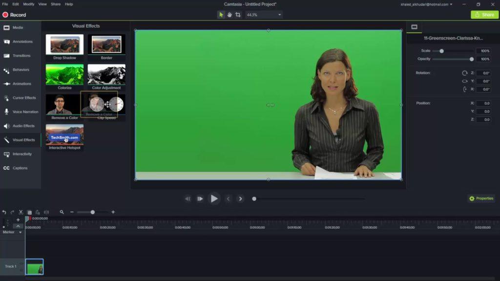 Camtasia software to make videos