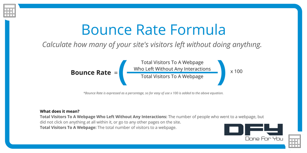 Bounce Rate Equation Google Analytics