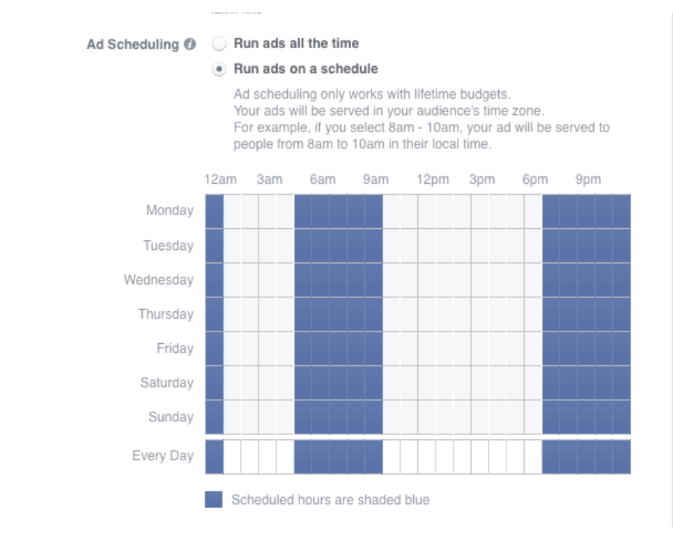 FB Ads Custom Scheduling