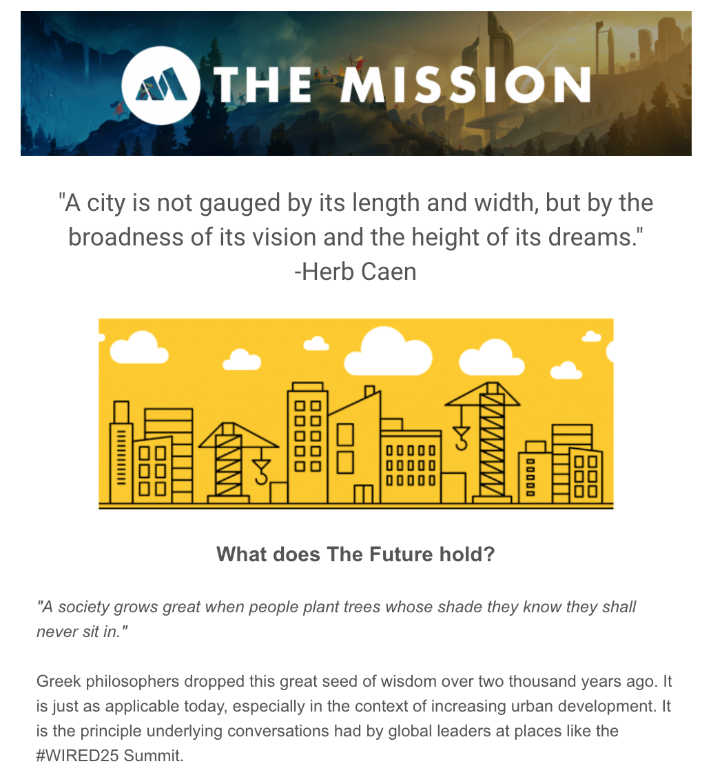The Mission Email Example