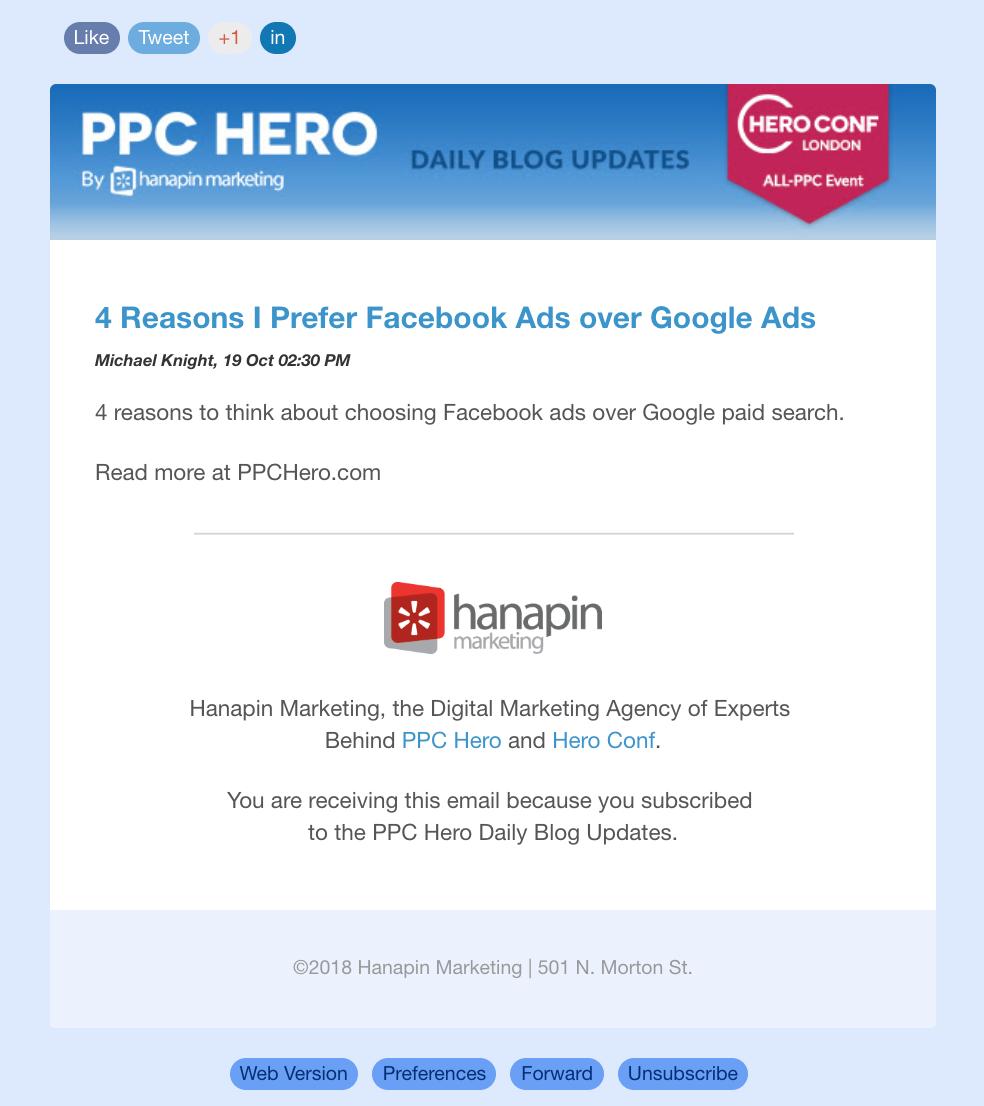 PPCHero Blog Updates