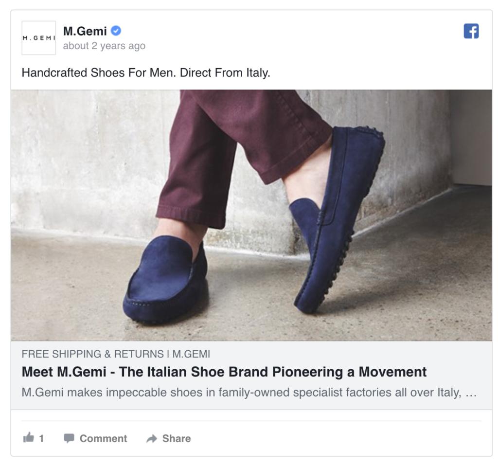M. Gemi Facebook Ad
