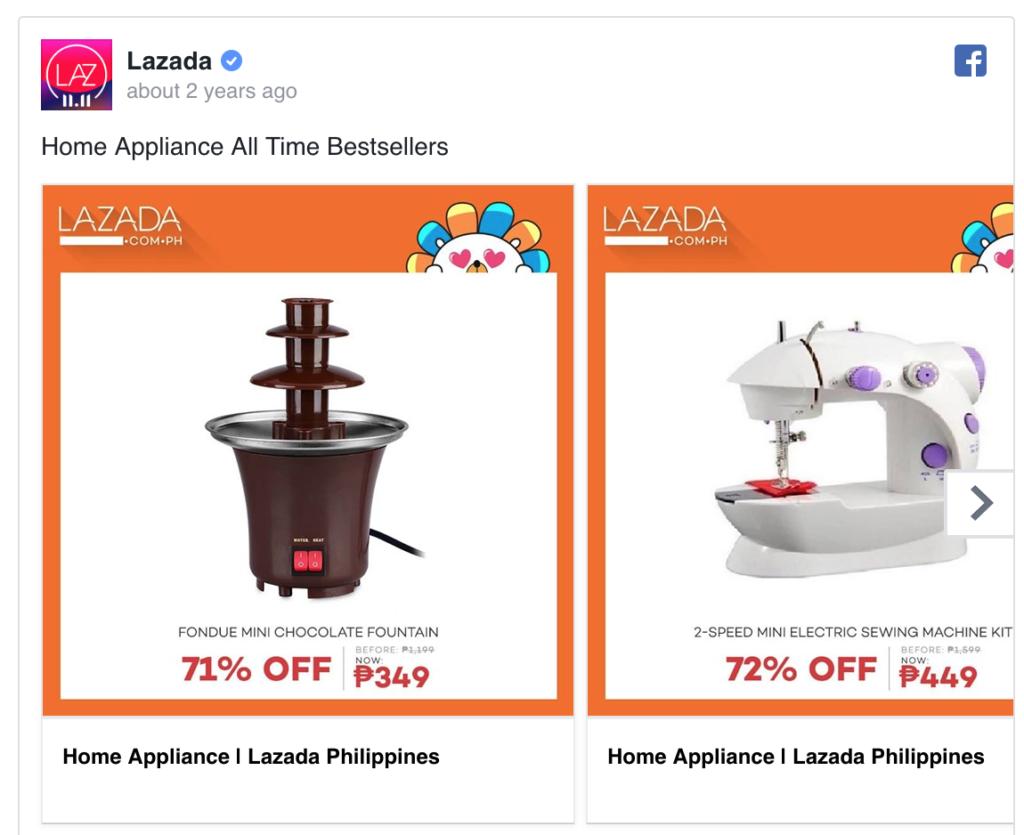Lazada Facebook Ad