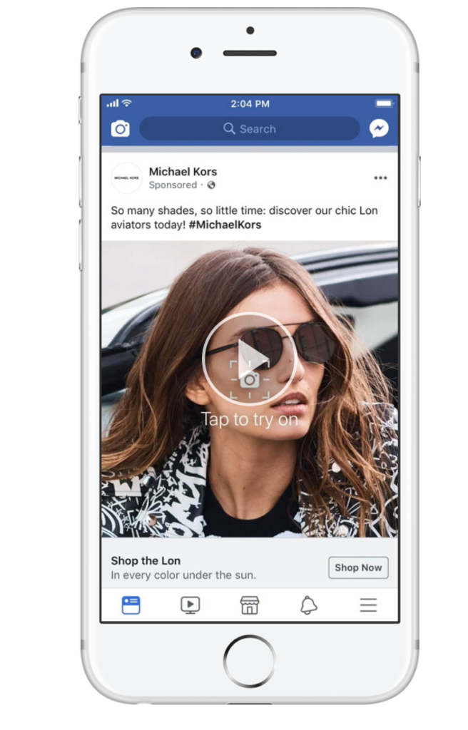 Facebook Augmented Reality Ads - Advertising Features and Tools
