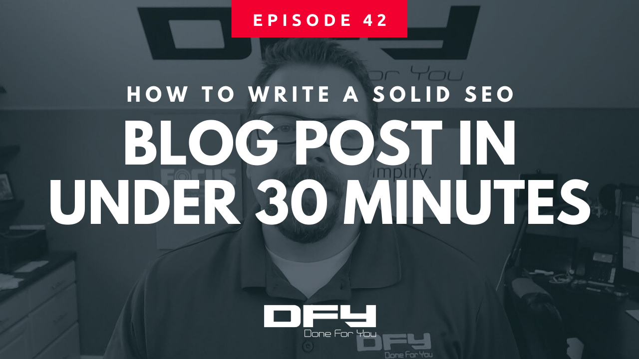 How To Write A Blog Post Fast – In Under 30 Minutes
