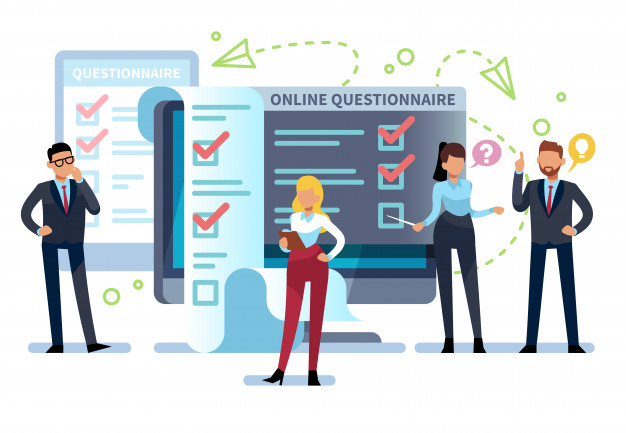 Confirmation page online questionnaire