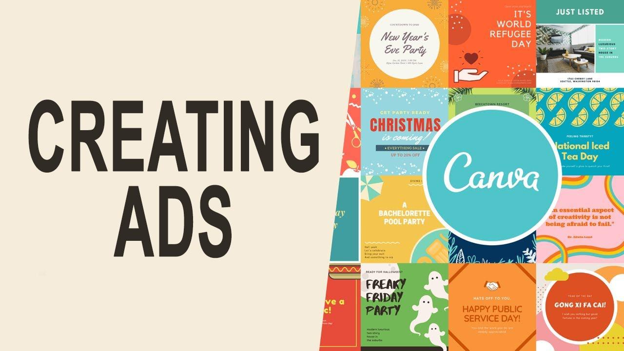 Designing Ad on Canva